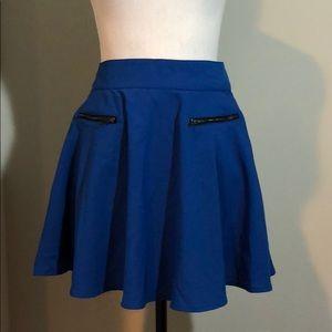 Pocket look retro flirty zipper skirt